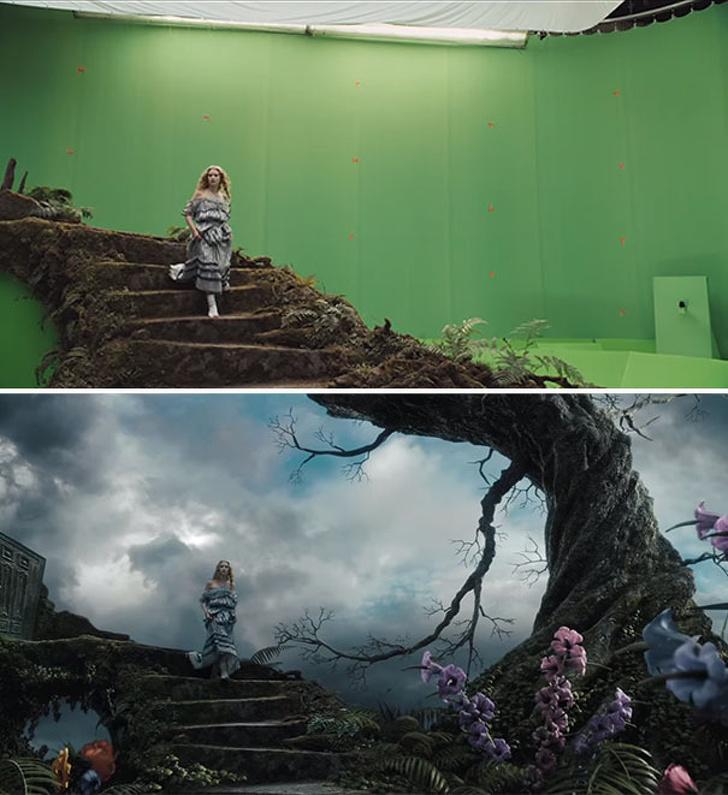 Ünlü Dizi ve Film Sahnelerinin Görsel Efekt Öncesi ve Sonrası Halleri